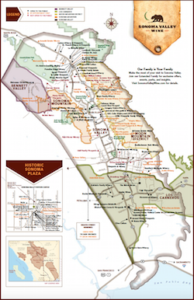 Sonoma Valley Winery Map